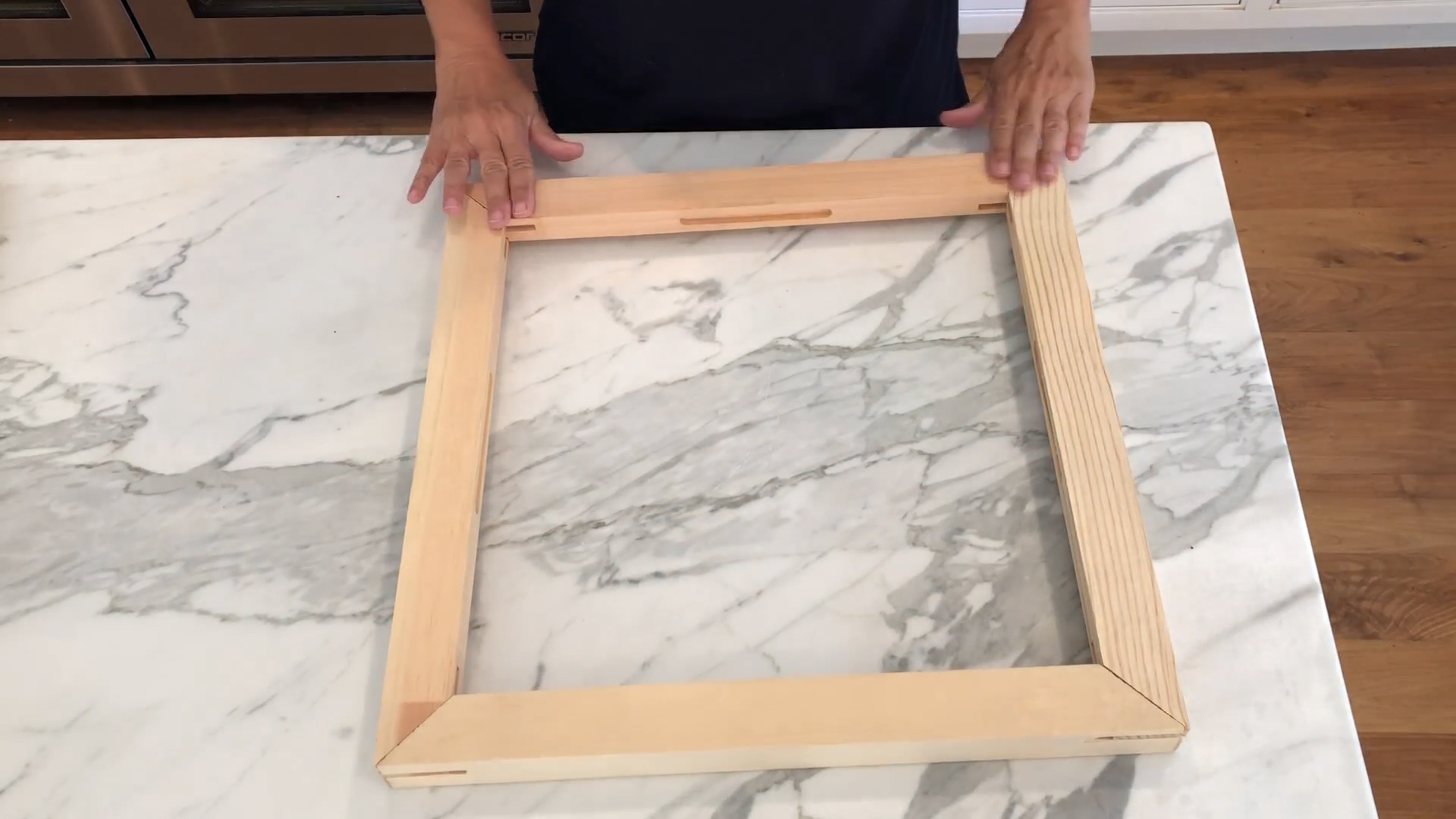 Making a Punch Needle Frame From Canvas Stretcher Bars | Creative Is ...