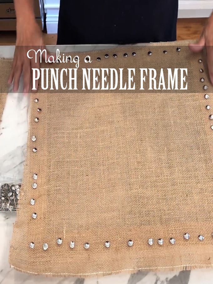 Making A Punch Needle Frame From Canvas Stretcher Bars